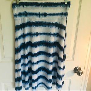 LuLaRoe Azure Skirt, Size Medium